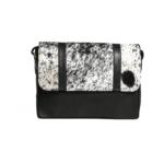 Chivalry Laptop Satchel -Nguni Black & White