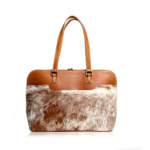 "Genuine Leather Laptop ""AmoreGrande"" - Diesel Toffee with Blonde Nguni (Copy)"